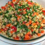 Tapin2you Brown rice, bean, vegetable salad