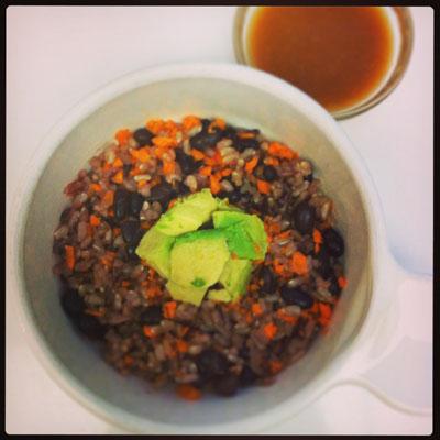 Tapin2you Veggie bowl, ginger miso sauce